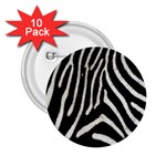 Zebra Print Big	 2.25  Button (10 pack)