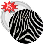 Zebra Print Big	 3  Button (100 pack)