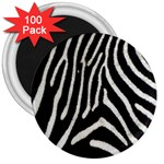 Zebra Print Big	 3  Magnet (100 pack)