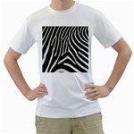 Zebra Print Big	 White T-Shirt