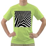 Zebra Print Big	 Green T-Shirt