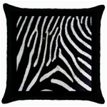 Zebra Print Big	 Throw Pillow Case (Black)