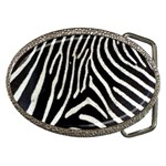 Zebra Print Big	 Belt Buckle