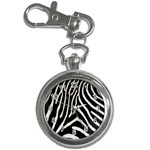 Zebra Print Big	 Key Chain Watch