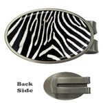 Zebra Print Big	 Money Clip (Oval)