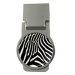 Zebra Print Big	 Money Clip (Round)