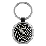 Zebra Print Big	 Key Chain (Round)