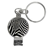 Zebra Print Big	 Nail Clippers Key Chain