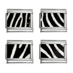 Zebra Print Big	9mm Italian Charm (4 pack)