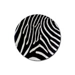 Zebra Print Big	 Rubber Round Coaster (4 pack)