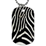 Zebra Print Big	 Dog Tag (One Side)