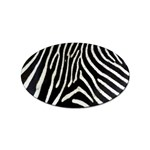 Zebra Print Big	 Sticker Oval (10 pack)