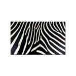 Zebra Print Big	 Sticker Rectangular (10 pack)