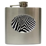 Zebra Print Big	 Hip Flask (6 oz)