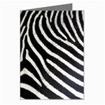 Zebra Print Big	 Greeting Cards (Pkg of 8)