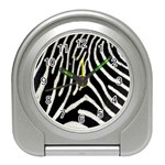 Zebra Print Big	 Travel Alarm Clock
