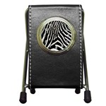 Zebra Print Big	 Pen Holder Desk Clock