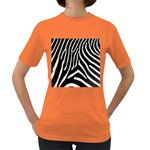 Zebra Print Big	 Women s Dark T-Shirt