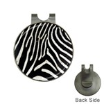 Zebra Print Big	 Golf Ball Marker Hat Clip