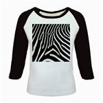 Zebra Print Big	 Kids Baseball Jersey