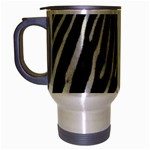 Zebra Print Big	 Travel Mug (Silver Gray)