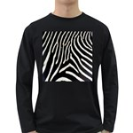 Zebra Print Big	 Long Sleeve Dark T-Shirt