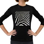 Zebra Print Big	 Women s Long Sleeve Dark T-Shirt