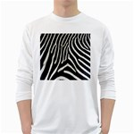 Zebra Print Big	 Long Sleeve T-Shirt