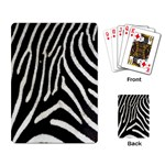 Zebra Print Big	 Playing Cards Single Design