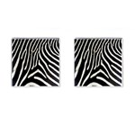 Zebra Print Big	 Cufflinks (Square)
