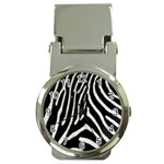 Zebra Print Big	 Money Clip Watch