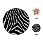 Zebra Print Big	Playing Cards (Round)