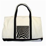 Zebra Print Big	 Two Tone Tote Bag