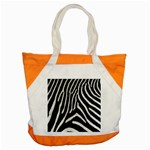 Zebra Print Big	 Accent Tote Bag