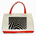 Zebra Print Big	 Classic Tote Bag (Red)