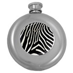 Zebra Print Big	 Hip Flask (5 oz)