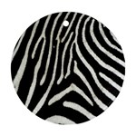 Zebra Print Big	 Round Ornament (Two Sides)