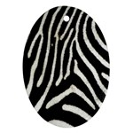 Zebra Print Big	 Oval Ornament (Two Sides)