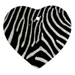 Zebra Print Big	 Heart Ornament (Two Sides)