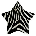 Zebra Print Big	 Star Ornament (Two Sides)