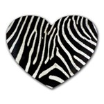 Zebra Print Big	 Mousepad (Heart)