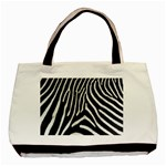 Zebra Print Big	 Classic Tote Bag (Two Sides)