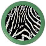 Zebra Print Big	 Color Wall Clock
