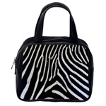 Zebra Print Big	 Classic Handbag (One Side)