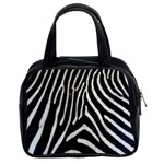 Zebra Print Big	 Classic Handbag (Two Sides)