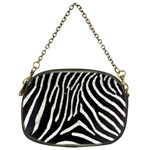 Zebra Print Big	 Chain Purse (One Side)