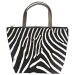 Zebra Print Big	 Bucket Bag