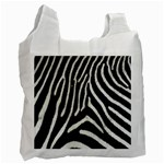 Zebra Print Big	 Recycle Bag (One Side)