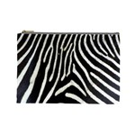 Zebra Print Big	 Cosmetic Bag (Large)