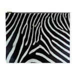 Zebra Print Big	 Cosmetic Bag (XL)